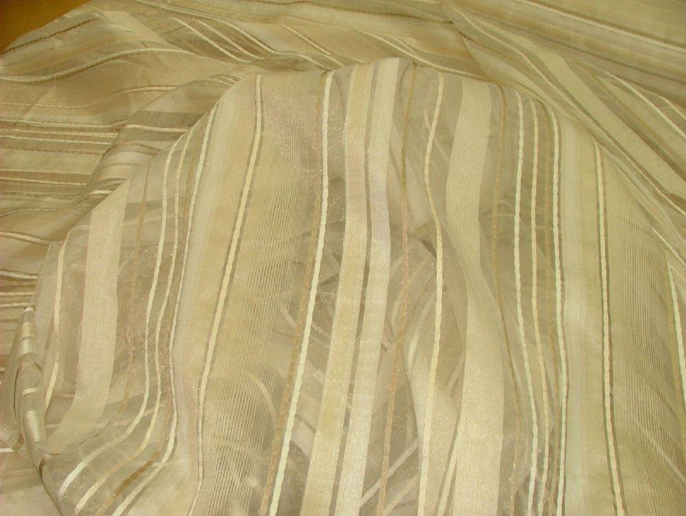 Ashley Wilde Ashby Cream Voile Organza Curtain Window